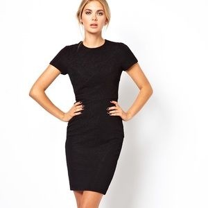 Ted Baker • Black Textured Nedali Dress